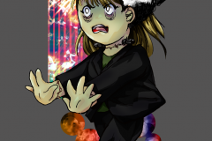 Halloween chibi of Miyara dressed as Frankenstein ( 2014 )